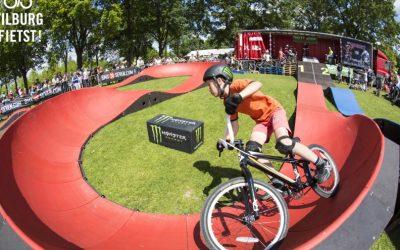 Spannende fietsbaan op Koningdag in Leijpark