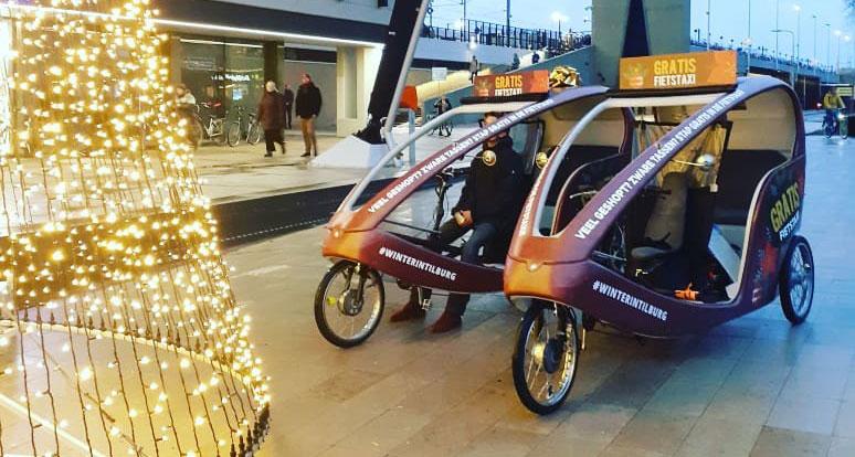Fietstaxi's bieden gratis vervoer in binnenstad in december