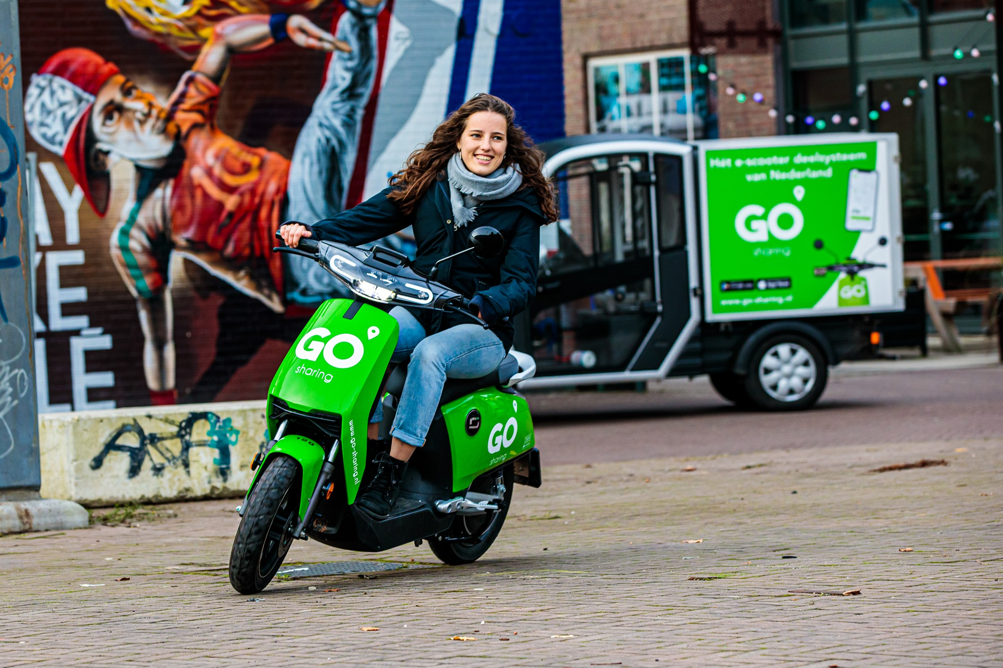 GO Sharing scooters populair in Tilburg