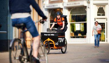 Fietskoeriers bezorgen jouw aankopen in binnenstad Tilburg thuis!