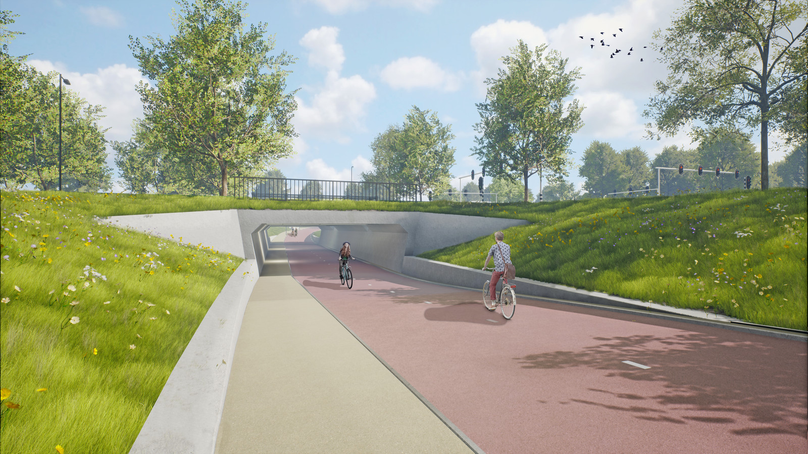 Aanleg fietstunnel Ringbaan Zuid gestart